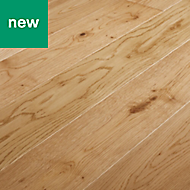GoodHome Liskamm Natural Oak Real wood top layer flooring, 1.4m² Pack