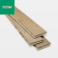 GoodHome Pingora Grey Oak Real wood top layer flooring, 1.2m² Pack