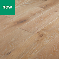 GoodHome Pingora Grey Oak Real wood top layer flooring, 1.2m² Pack