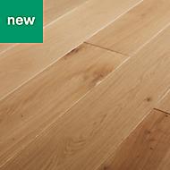 GoodHome Lulea Natural Oak Solid wood flooring, 1.26m² Pack