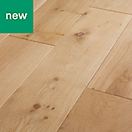 GoodHome Lulea Natural Oak Solid wood flooring, 1.26m² Pack