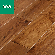 GoodHome Skara Natural Oak Solid wood flooring, 1.48m² Pack