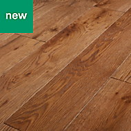 GoodHome Skara Natural Oak Solid wood flooring, 1.8m² Pack