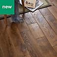 GoodHome Skanor Oak Solid wood flooring, 1.8m² Pack