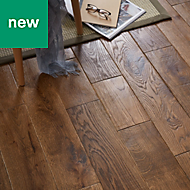 GoodHome Skanor Oak Solid wood flooring, 1.8m² Pack