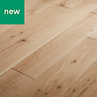 GoodHome Koping Natural Oak Solid wood flooring, 1.56m² Pack
