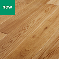 GoodHome Lysekil Natural Oak Solid wood flooring, 1.56m² Pack