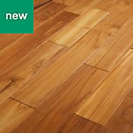 GoodHome Krabi Teak Solid wood flooring, 1.29m² Pack