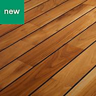 GoodHome Pattani Teak Solid wood flooring, 1.29m² Pack