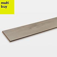 GoodHome Leiston Grey Oak effect Laminate flooring, 1.76m² Pack