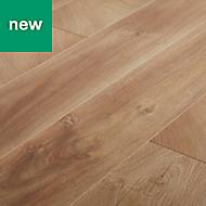 GoodHome Lydney Natural Oak effect Laminate flooring, 1.76m² Pack