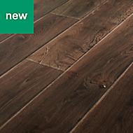 GoodHome Orford Grey Oak effect Laminate flooring, 1.29m² Pack