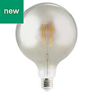 Diall E27 806lm Globe Neutral white LED Filament Light bulb (L)210mm