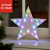 Colour changing LED Star Silhouette