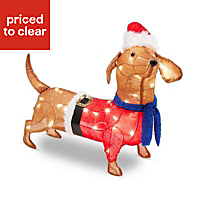 Ice white LED Pop up dog Silhouette