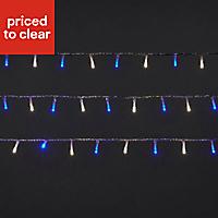 240 Blue & ice white LED String lights