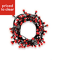 120 Red LED Berry String lights