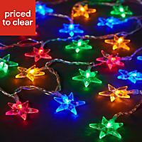80 Multicolour LED Star String lights