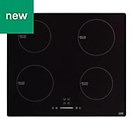 Cooke & Lewis LinkTech 4 burner Black Glass Electric Induction Hob