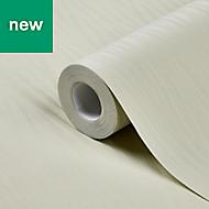 GoodHome Auntun Green Plain Metallic effect Wallpaper