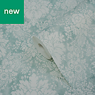 GoodHome Vay Green Damask Wallpaper