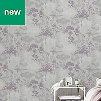 GoodHome Esseri Grey, purple & white Tree Wallpaper