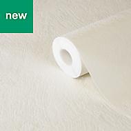 Liatris White Plain Ridged effect Wallpaper