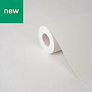 Wampi White Plastered effect Textured Wallpaper