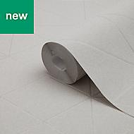GoodHome Patula Taupe Geometric Textured Wallpaper
