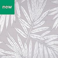 GoodHome Loroco Leaves Silver metallic effect Wallpaper