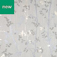 GoodHome Bromus Cream Floral Metallic effect Wallpaper