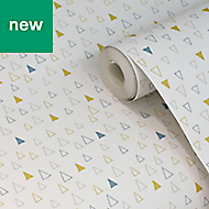 Spicata Yellow Triangle Wallpaper