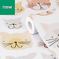 Picris Cartoon Cats Wallpaper