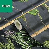 GoodHome Diasi Black & green Botanical Wallpaper
