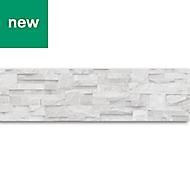 GoodHome Cotula White Brick Border