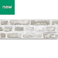 GoodHome Calvoa Beige Brick effect Border