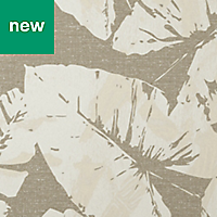 GoodHome Scolyme Cream Leaves Wallpaper