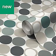 GoodHome Lymani Green Dot Wallpaper