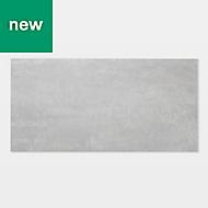 GoodHome Poprock Light grey Stone effect Self adhesive Vinyl tile, 1.3m² Pack