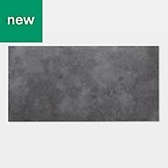 GoodHome Poprock Dark grey Stone effect Self adhesive Vinyl tile, 1.3m² Pack