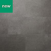 GoodHome Poprock Grey Stone effect Self adhesive Vinyl tile, 1.3m² Pack