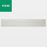 GoodHome Poprock White Wood effect Self adhesive Vinyl plank, 0.97m² Pack