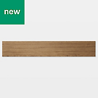 GoodHome Poprock Natural honey Wood effect Self adhesive Vinyl plank, 0.97m² Pack
