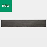 GoodHome Poprock Dark grey Wood effect Self adhesive Vinyl plank, 0.97m² Pack