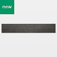 GoodHome Poprock Dark grey Wood effect Self adhesive Vinyl plank, 0.97m² Pack