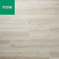 GoodHome Poprock Rustic white Wood effect Self adhesive Vinyl plank, 1.11m² Pack