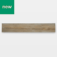 GoodHome Poprock Pecan Wood effect Self adhesive Vinyl plank, 1.11m² Pack