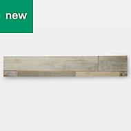 GoodHome Poprock Multi-blue Wood effect Self adhesive Vinyl plank, 0.97m² Pack