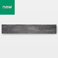 GoodHome Poprock Grey Wood effect Self adhesive Vinyl plank, 1.11m² Pack