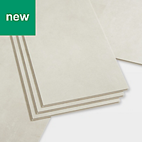 GoodHome Bachata Beige Tile effect Luxury vinyl click flooring, 2.6m² Pack